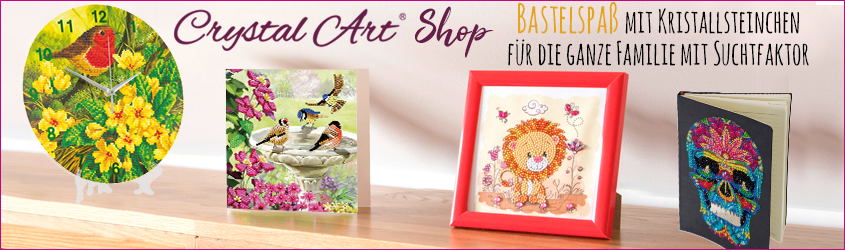 Crystal Art, Craft Buddy, Glass  Hobby Design, Pracht, bekannt durch TV, alle Crystal Art Artikel bei www.glass-hobby-design.de.