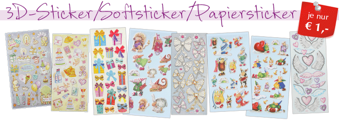 3D-Sticker/Softsticker/Papiersticker
